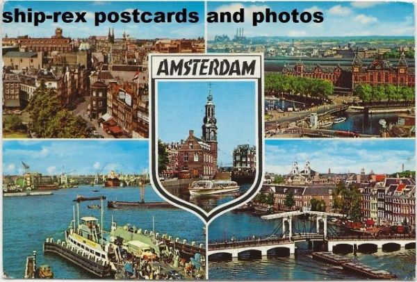 Amsterdam multi-view postcard